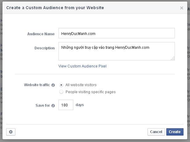 Retargeting Facebook 4