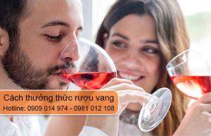 cách thưởng thức rượu vang