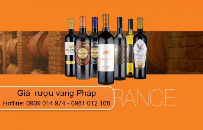 giá rượu vang pháp