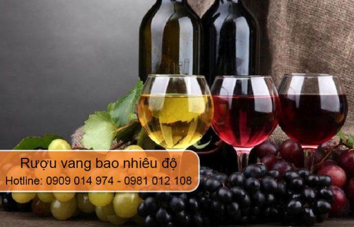 rượu vang bao nhiêu độ