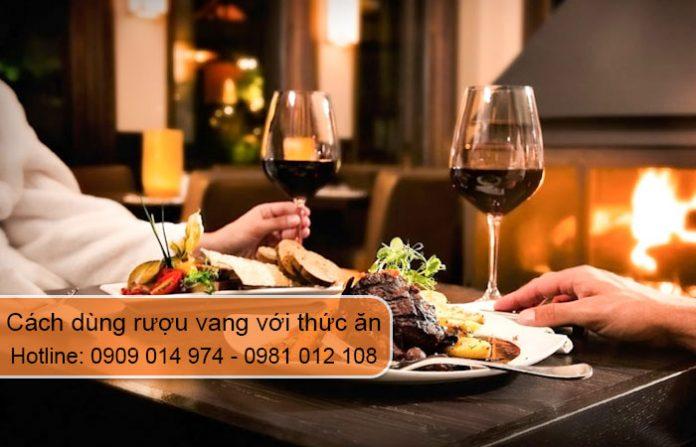 cách dùng rượu vang với thức ăn