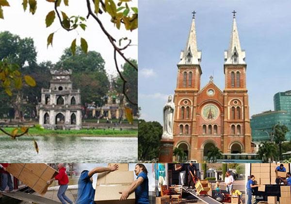 Vận chuyển hàng hóa từ Hà Nội vào Sài Gòn