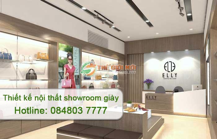 thiết kế nội thất showroom giày