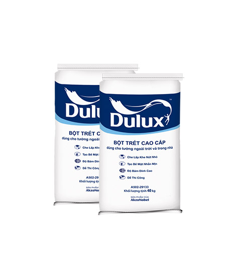 Bột trét tường cao cấp trong nhà và ngoài trời Dulux - Bao 40kg