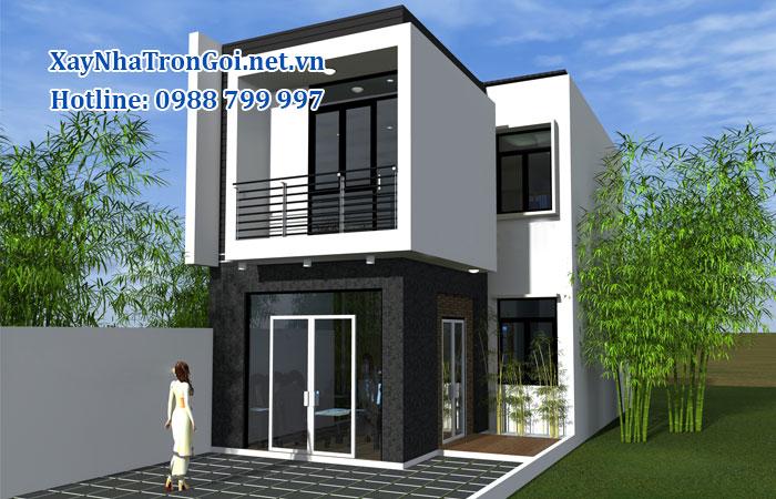 xây nhà 1 trệt 1 lầu