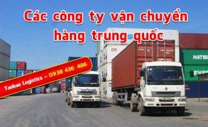các công ty vận chuyển hàng trung quốc