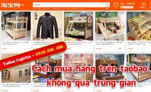 cách mua hàng trên taobao không qua trung gian