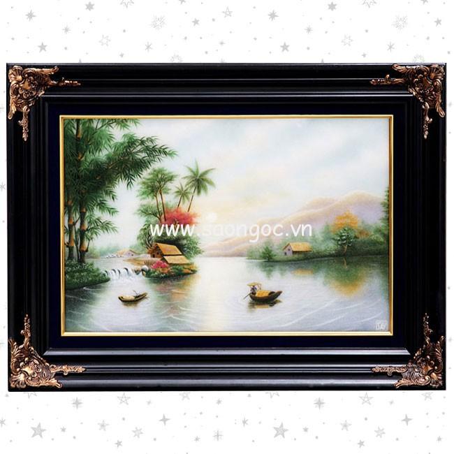 Tranh đá quý phong cảnh Việt Nam