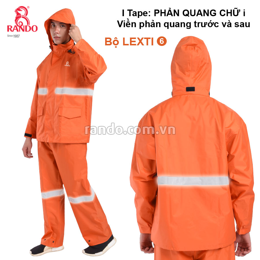 Bộ áo mưa Lexti 6 i-Tape