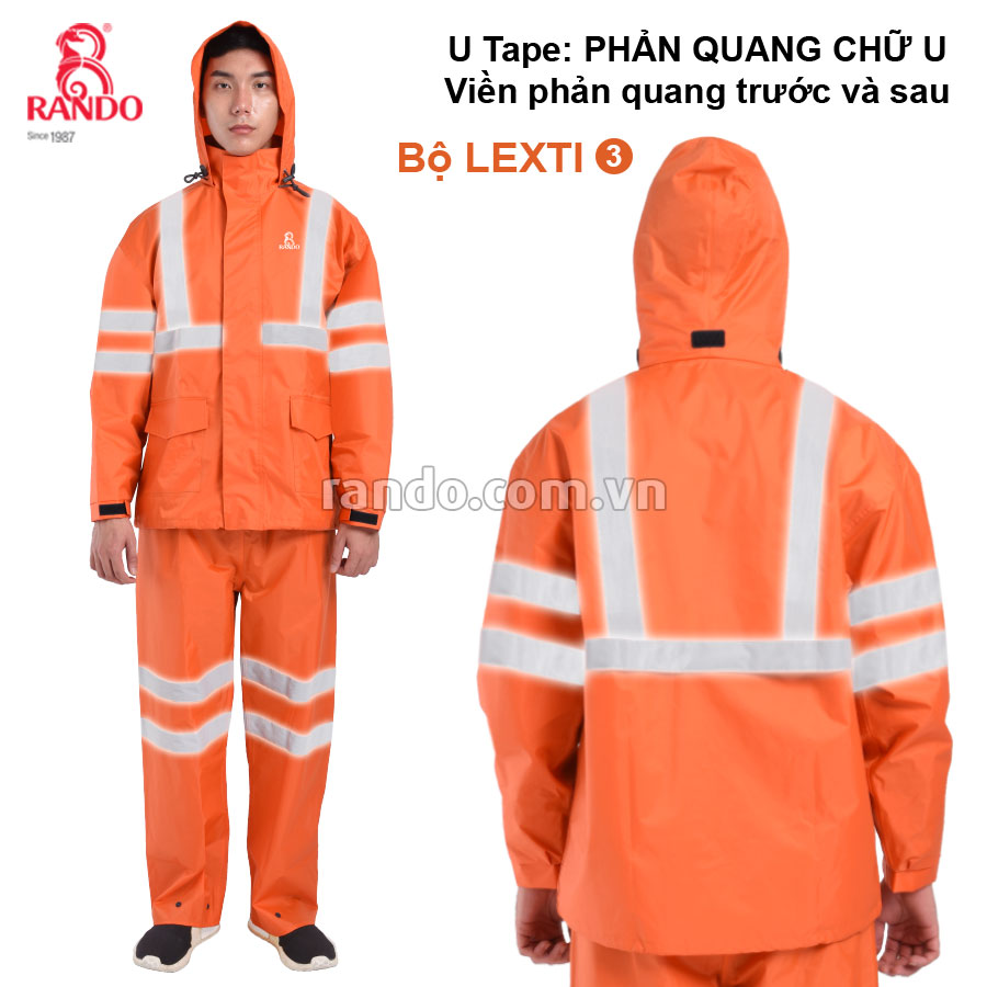 Bộ áo mưa Lexti 3 U-Tape