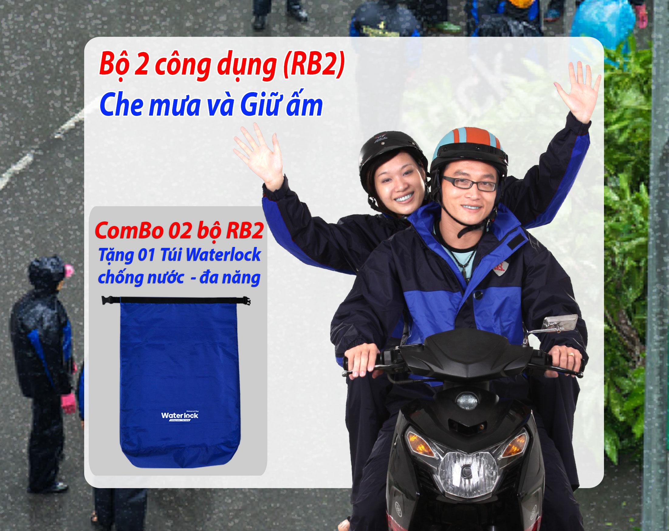 Bộ áo mưa 2 công dụng RB2 khuyến mãi