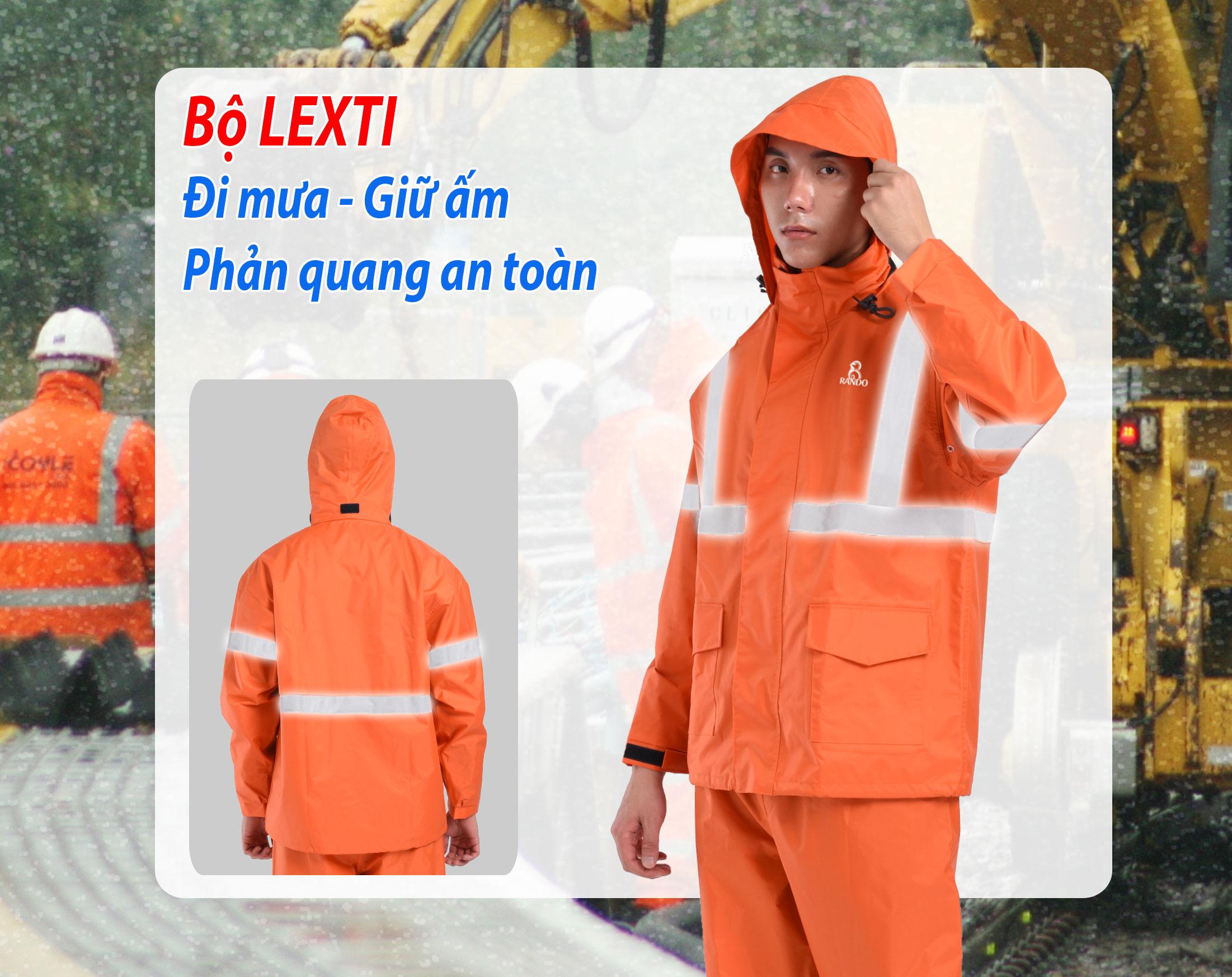 Bộ áo mưa LEXTI khuyến mãi