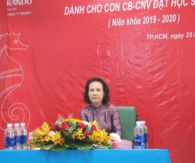 Bà Đoàn Thị Phượng - Phó chủ tịch HĐTV Cty RANDO