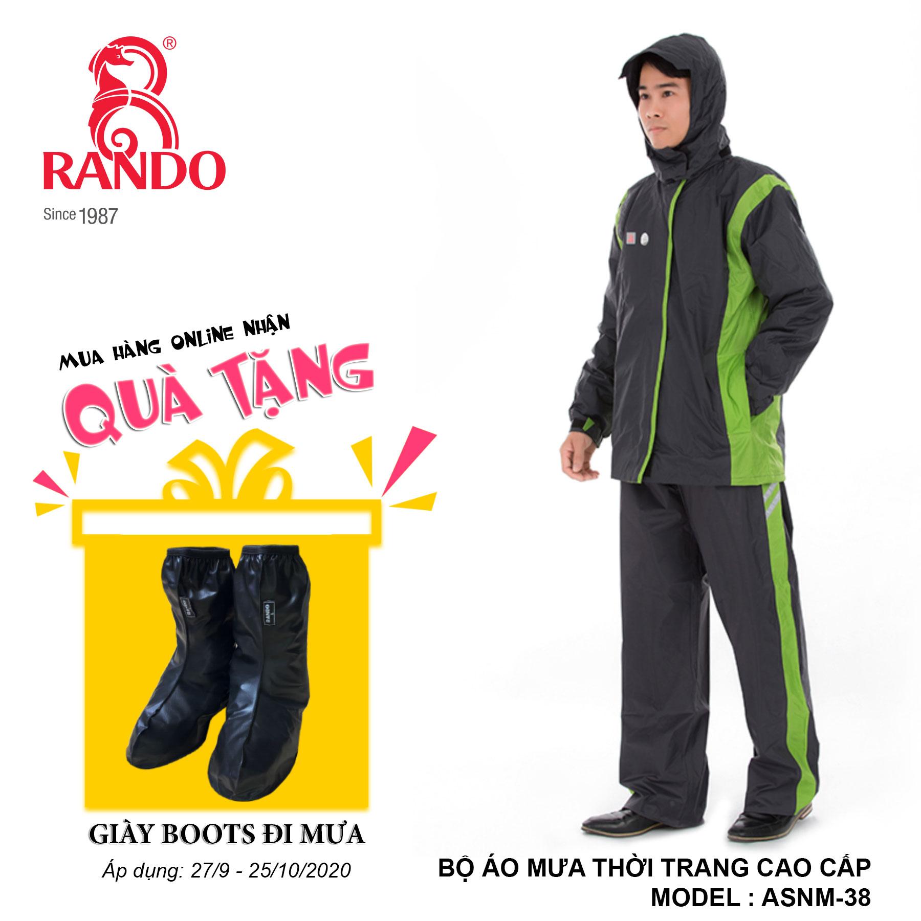 Mua bộ áo mưa TTCC tặng GIÀY BOOTS đi mưa RANDO