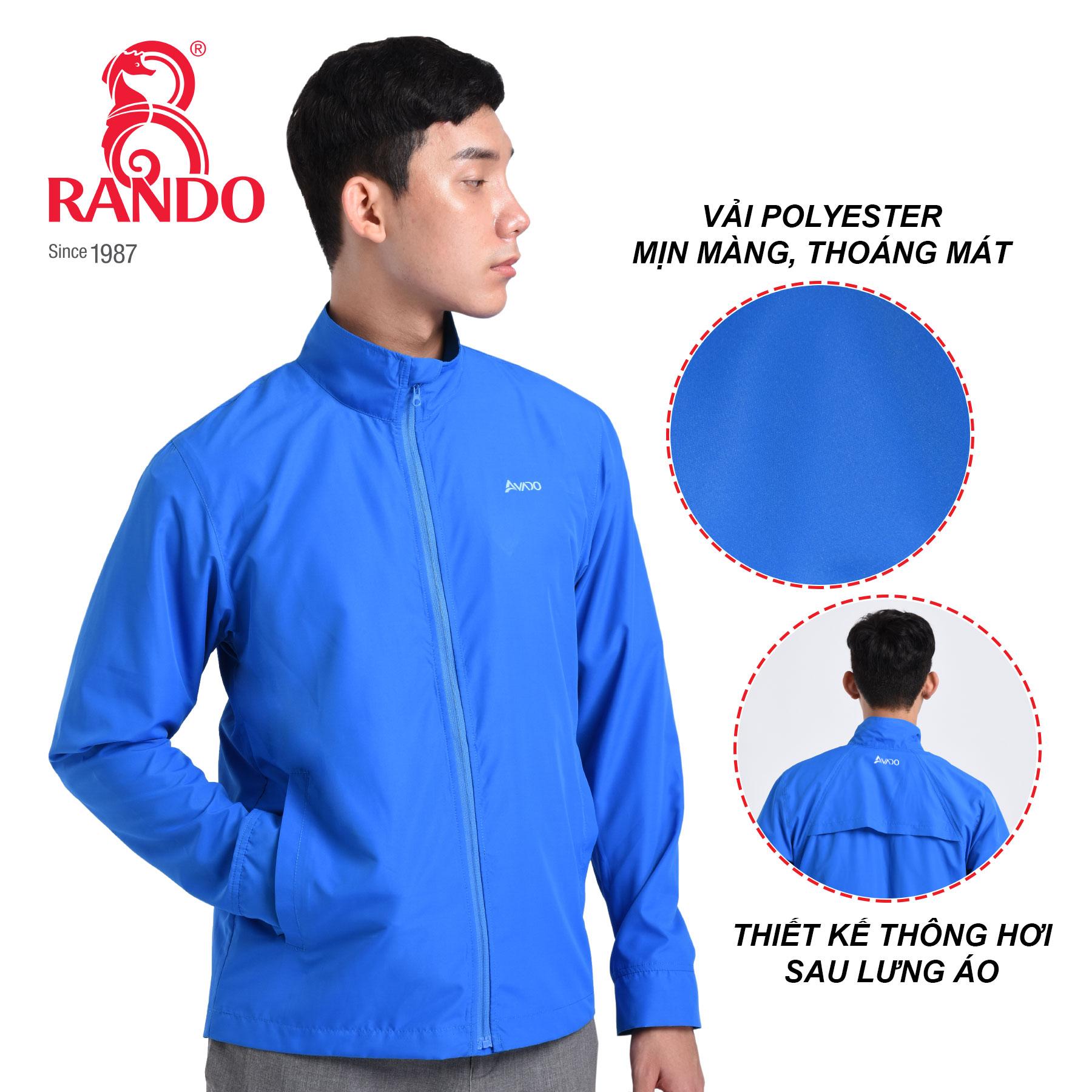 Chất liệu polyester áo gió cao cấp Nam AVADO - RANDO