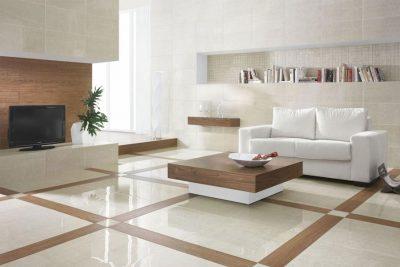 Gạch có họa tiết nổi bật mang lại vẻ đẹp độc đáo cho phòng khách
