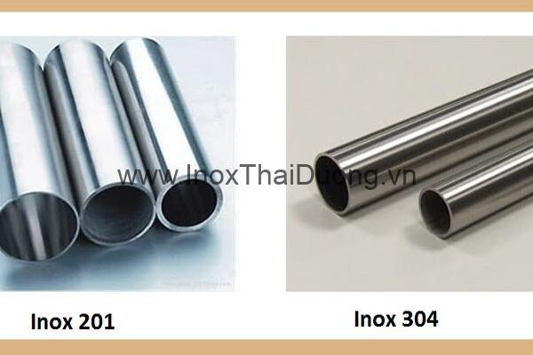 Bề ngoài của inox 201 và inox 304
