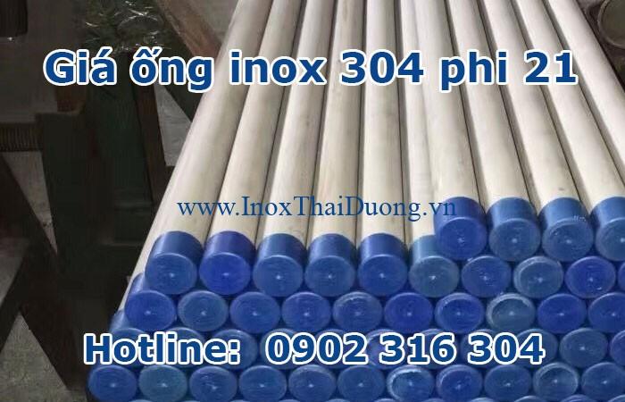 giá ống inox 304 phi 21