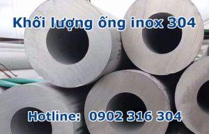 khối lượng ống inox 304