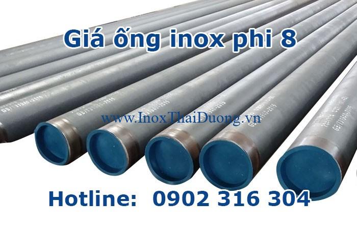 giá ống inox phi 8