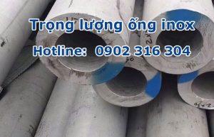 trọng lượng ống inox