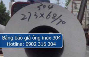 bảng báo giá ống inox 304
