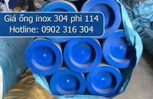 giá ống inox 304 phi 114