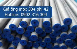 giá ống inox 304 phi 42