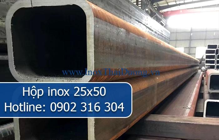 hộp inox 25x50