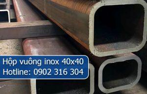 hộp vuông inox 40x40
