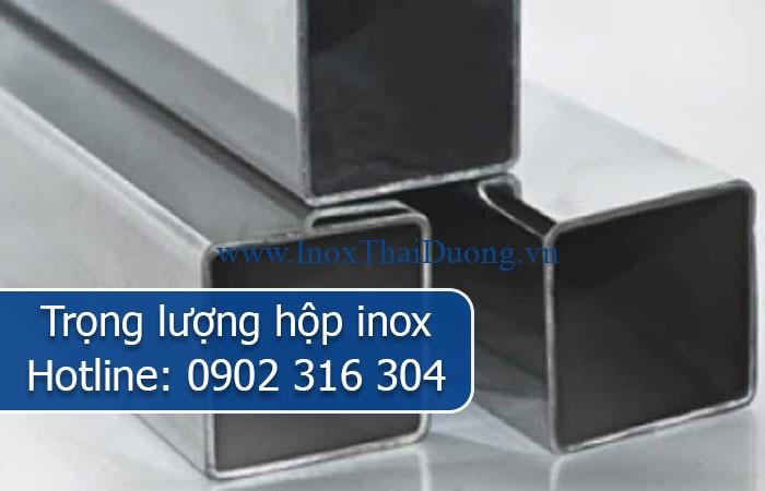 trọng lượng hộp inox