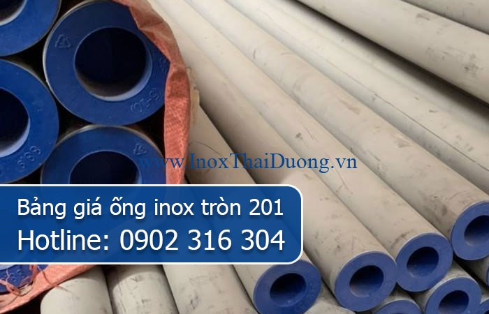 bảng giá ống inox tròn 201