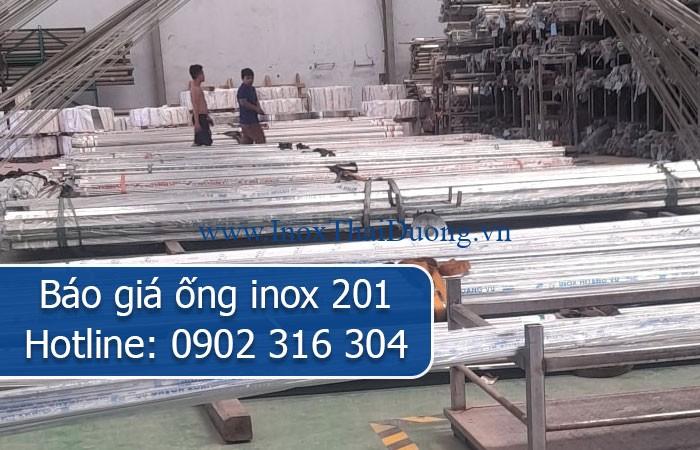 báo giá ống inox 201