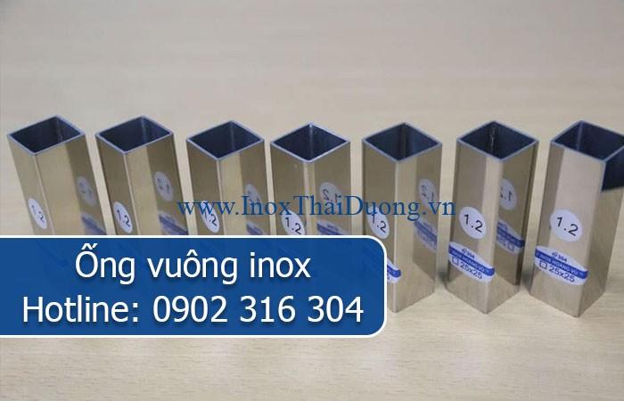 ống vuông inox