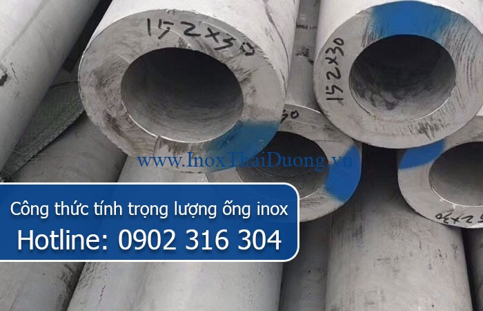 công thức tính trọng lượng ống inox