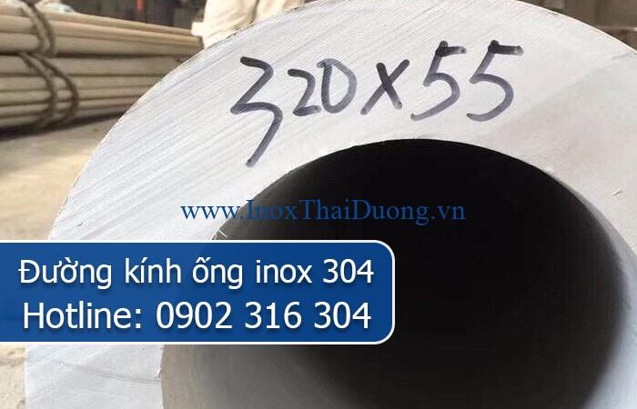 đường kính ống inox 304