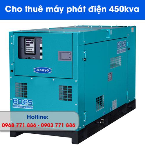 cho thuê máy phát điện 450kva