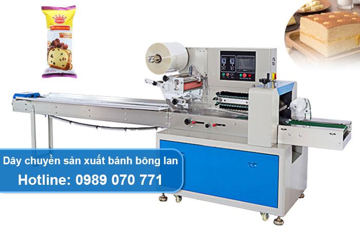 dây chuyền sản xuất bánh bông lan