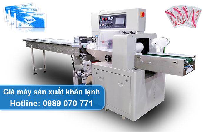 giá máy sản xuất khăn lạnh