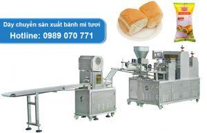 dây chuyền sản xuất bánh mì tươi