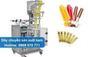 dây chuyền sản xuất kem