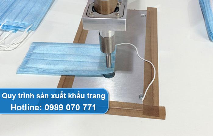 quy trình sản xuất khẩu trang