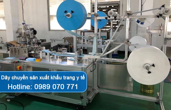 dây chuyền sản xuất khẩu trang y tế
