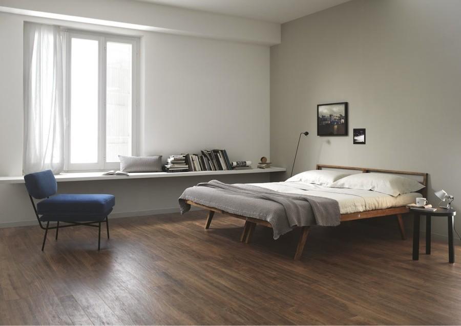 gạch giả gỗ cho phòng ngủ