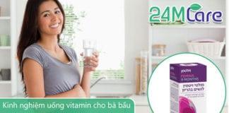 kinh nghiệm uống vitamin cho bà bầu