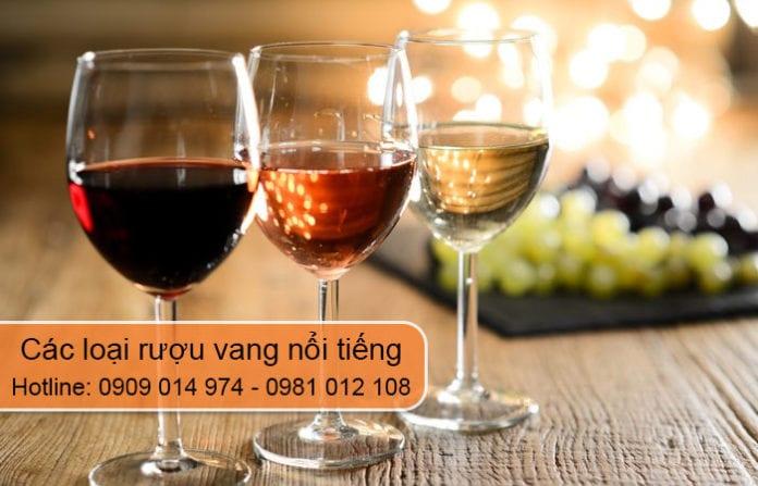 các loại rượu vang nổi tiếng
