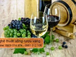 nghệ thuật uống rượu vang